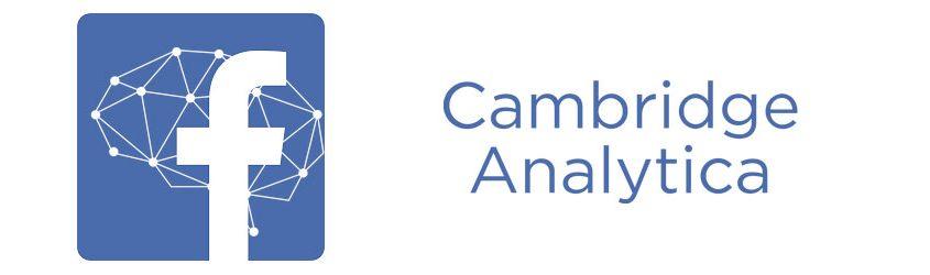 Logo di Facebook e Logo di Cambridge Analytica