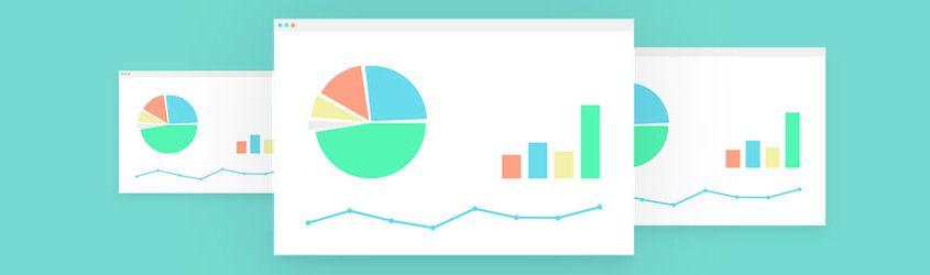 Illustrazione di schermate di analisi dati con Google Anlytics