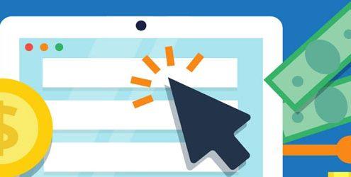 Illustrazione che rappresenta investimenti in web marketing