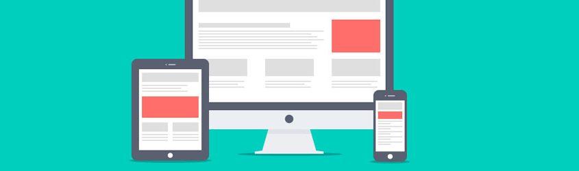 Illustrazione di schermi di PC, Tablet e Smartphone che rappresentano gli spazi di pubblicità Display
