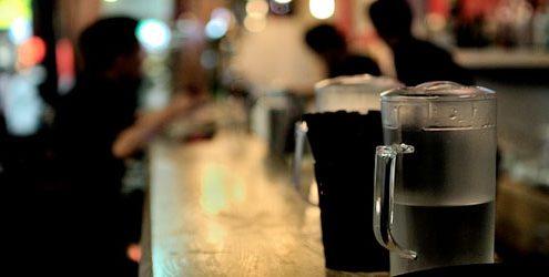 Bancone di un ristorante o Pub