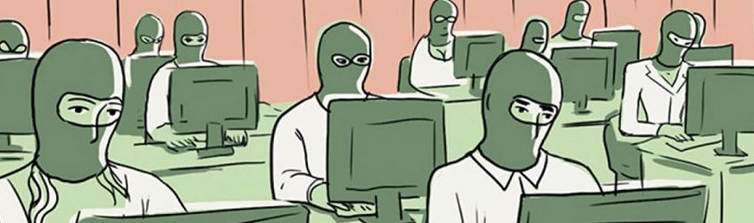 russiagate, vignetta , troll, hacker