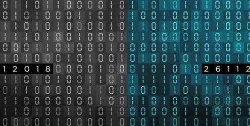 sfondo di numeri binari con inserite le date di cyber monday e black fridey 2018