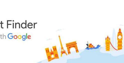Logo di Google Market Finder con illustrazione