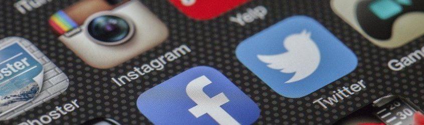 Social Media Trend 2019: schermo di smartphone che mostra icone di Social Media