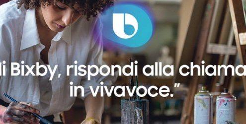 Samsung Bixby italiano: grafica ufficiale Samsung che pubblicizza Bixby