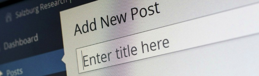 contenuti per i social: frazione di pagina di wordpress in cui si vede l'opzione per inserire il titolo di un nuovo articolo