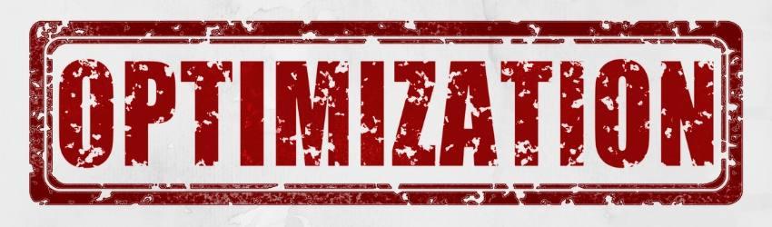"""Digital Marketing Punteggio Ottimizzazione: Scritta in rosso """"optimization"""""""