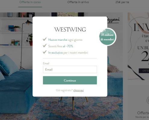 Westwing strategie per vendere arredamento